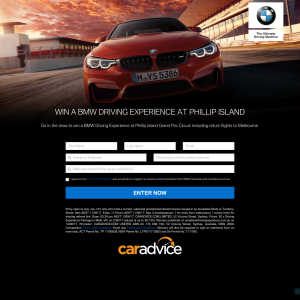 Win a BMW driving experience at Philip Island!