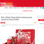 Win a Body Shop festive beauty pack valued at over $1,000!!