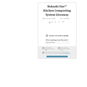 Win a 'Bokashi One' Kitchen Composting System!