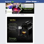 Win a brand new elegant & stylish Nespresso Inissia coffee machine with milk frother!