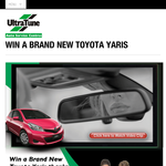 Win a brand new Toyota Yaris!