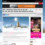 Win a Business Class trip to the UK for you & 2 friends + Bestival tickets!