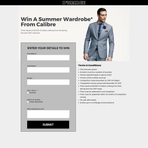Win a Calibre Wardrobe