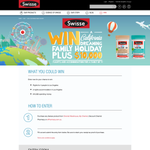 Win a 'California Dreaming' family holiday + $10,000!