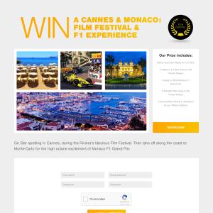 Win a Cannes & Monaco: Film Festival & F1 Experience!