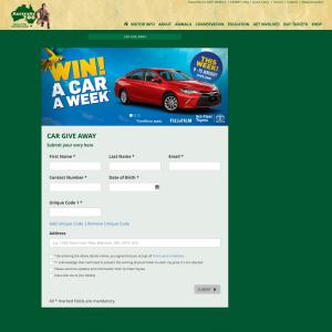 Win a car a week!