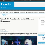 Win a Celtic Thunder prize pack with Leader Newspapers