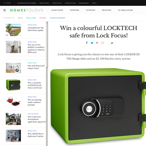 Win a colourful LOCKTECH safe!