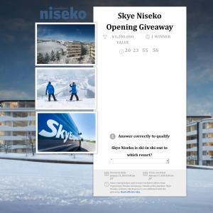 Win a complete 3 night stay package in Skye Niseko in Winter 2018-19! (No Flights Included)