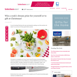 Win a cook's dream prize for yourself or to gift at Christmas