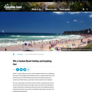 Win a Coolum Beach holiday & kayaking tour!
