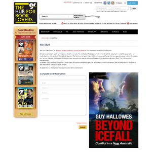 Win a copy of Beyond Icefall: Conflict in a new Australia by Guy Hallowes