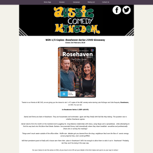 Win a copy of Rosehaven Series 2 on dvd