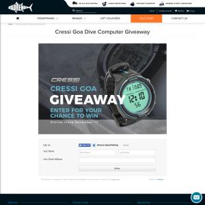 Win a Cressi Goa Dive Computer