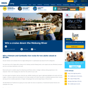 Win a cruise down the Mekong River! (RACQ Members - QLD Residents ONLY)