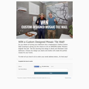 Win a Custom Designed Mosaic tiled wall