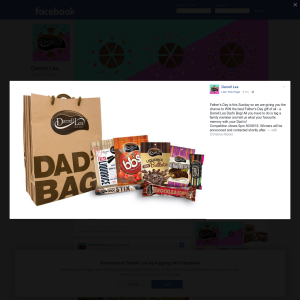 Win a 'Darrell Lea' dad's bag!