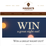 Win a delicious selection of Haigh's Chocolates & double pass to see 'Magic in the Moonlight'!
