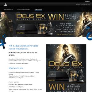 Win a 'Deus Ex Mankind Divided' custom PlayStation 4!