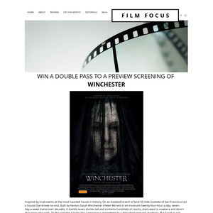 Win a double pass to a preview screening of Winchester
