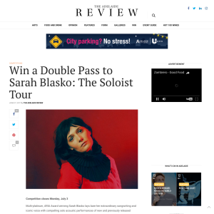 Win a Double Pass to Sarah Blasko: The Soloist Tour