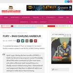 Win a Double Pass to see Fury at IMAX Darling Harbour