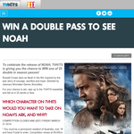 Win a Double Pass to see NOAH