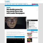 Win a Double Pass to Steve Jobs