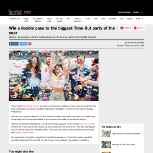 Win a double pass to the biggest Time Out party of the year