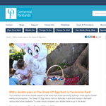 Win a double pass to 'The Great CP Egg Hunt' in Centennial Park!