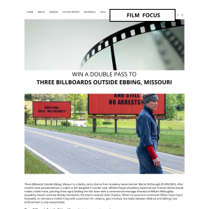 Win a double pass to Three Billboards outside Ebbing, Missouri