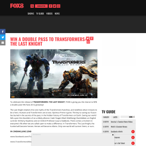 Win a double pass to Transformers The Last Knight