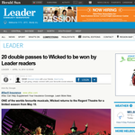 Win a double pass to Wicked to be won by Leader readers