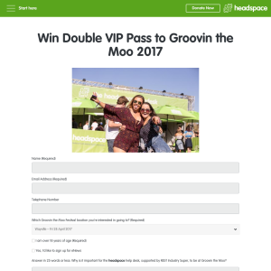 Win a double VIP pass to 'Groovin' The Moo' 2017! (Flights & Accommodation NOT Included)