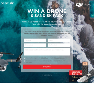 Win a drone & a SanDisk pack!