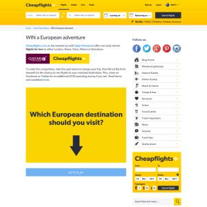 Win a European adventure!