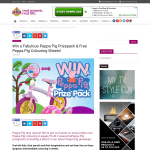 Win a Fabulous Peppa Pig Prizepack & Free Peppa Pig Colouring Sheets!