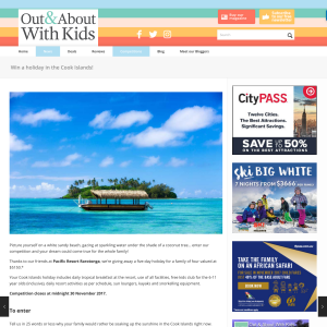 Win a Family Holiday to the Cook Islands