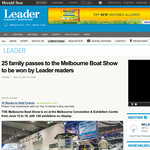 Win a family pass to the Melbourne Boat Show