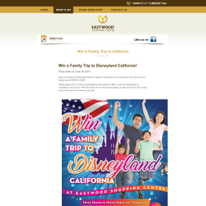 Win a family trip Disneyland, California! (NSW Residents ONLY - Purchase Required)