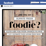 Win a Food Lovers Prize Pack!