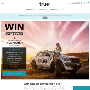 Win a Ford Ranger + a year's supply of 'True Protein'! (Purchase Required)