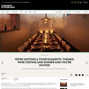 Win a Four Elements wine tasting & dinner