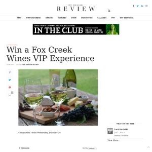 Win a Fox Creek Wines VIP Experience
