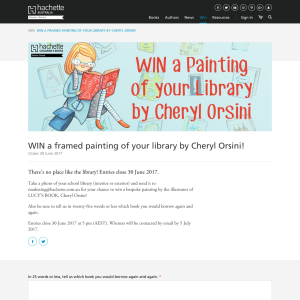 Win a framed painting of your library by Cheryl Orsini