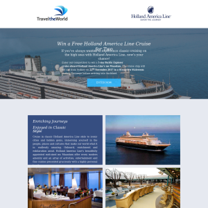 Win a Free Holland America Line Cruise for Two