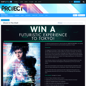 Win a futuristic experience for 2 to Tokyo!