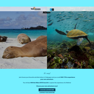 Win a Galapagos Islands Escape for 2 + a Nikon D810 Lens Kit worth $22,240!