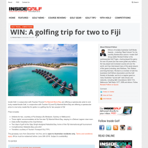 Win a Golfing Trip for Two to Fiji
