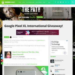 Win a Google Pixel XL smartphone!